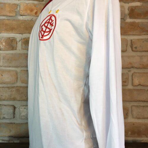 Camisa Internacional Adidas retro 1980 Mario mangas longas autografada