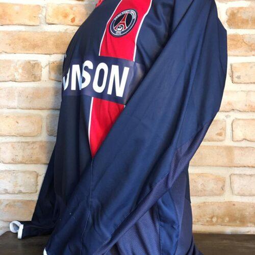 Camisa Paris Saint-Germain Nike 2003 Ronaldinho mangas longas