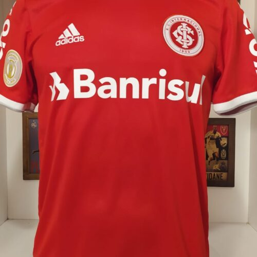 Camisa Internacional Adidas 2020 Thiago Galhardo autografada Brasileirão