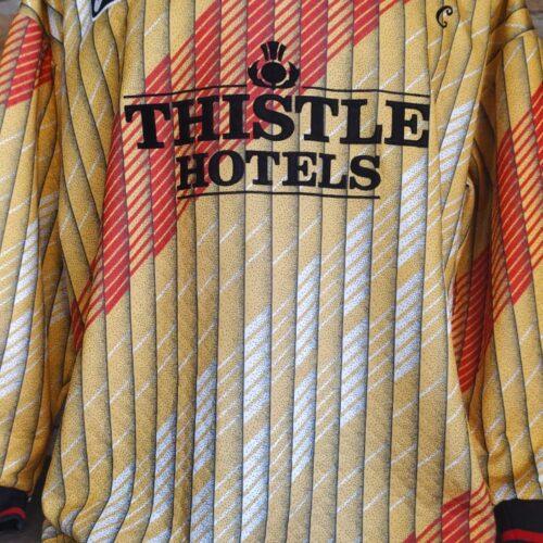 Camisa Leeds United Asics 1995 goleiro mangas longas