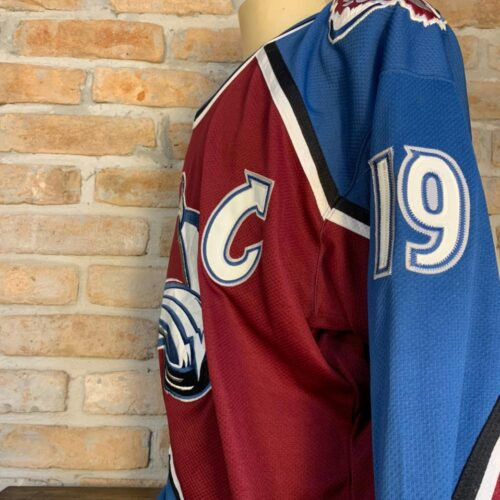 Camisa Colorado Avalanche Starter Sakic NHL mangas longas