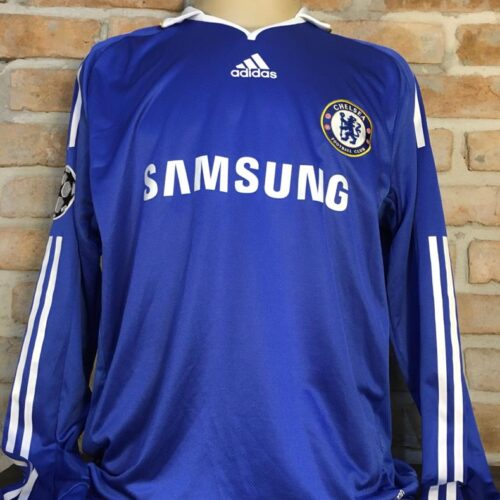 Camisa Chelsea Adidas 2008 Deco Champions League mangas longas