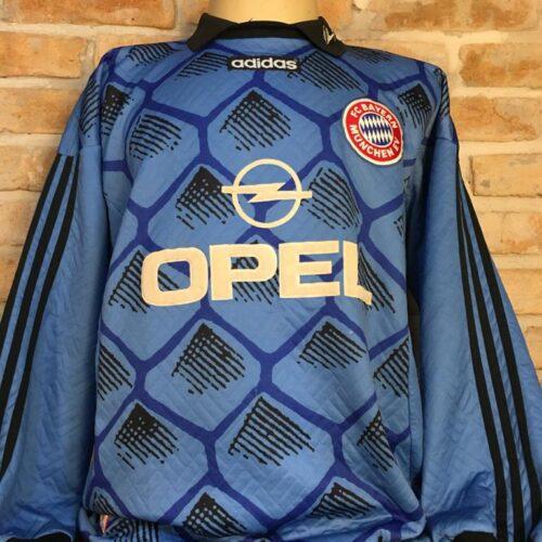 Camisa Bayern Munique Adidas 1995 Oliver Kahn goleiro mangas longas