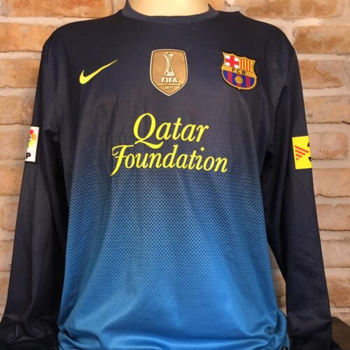 Camisa Barcelona Nike 2012 Valdez goleiro mangas longas