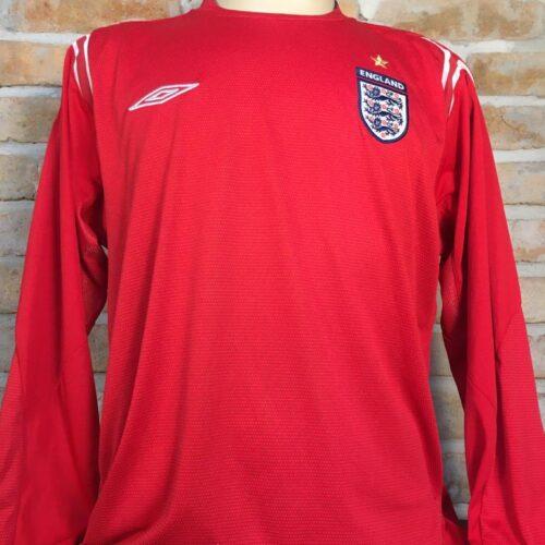 Camisa Inglaterra Umbro 2004 mangas longas