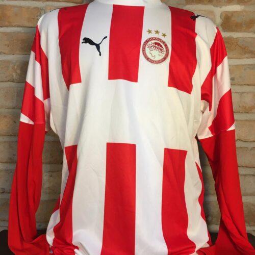 Camisa Olympiakos Puma 2006 Rivaldo mangas longas
