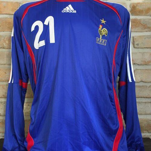 Camisa França Adidas 2006 Chimbonda Copa do Mundo mangas longas