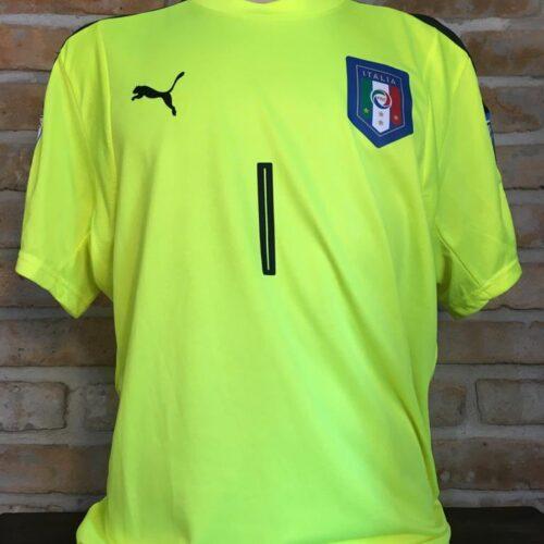 Camisa Itália Puma 2016 Buffon goleiro Eliminatórias Copa do Mundo 2018
