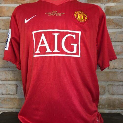 Camisa Manchester United Adidas 2008 Rooney Mundial FIFA