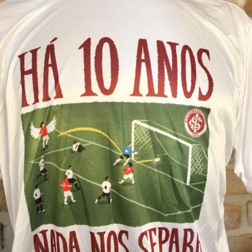 Camisa Internacional Há dez anos nada nos separa Libertadores da América 2006