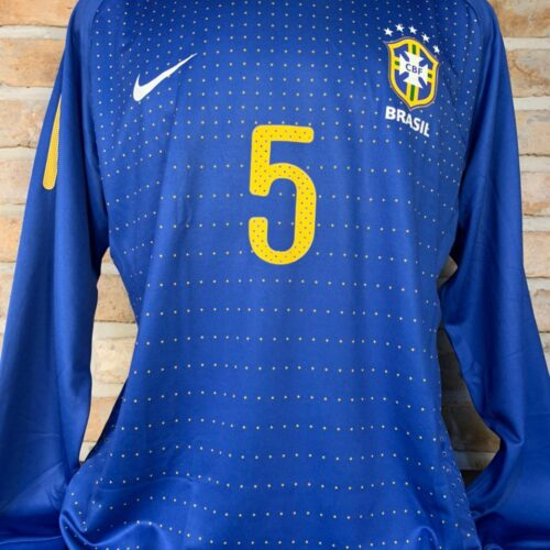 Camisa Brasil Nike 2010 Felipe Melo mangas longas