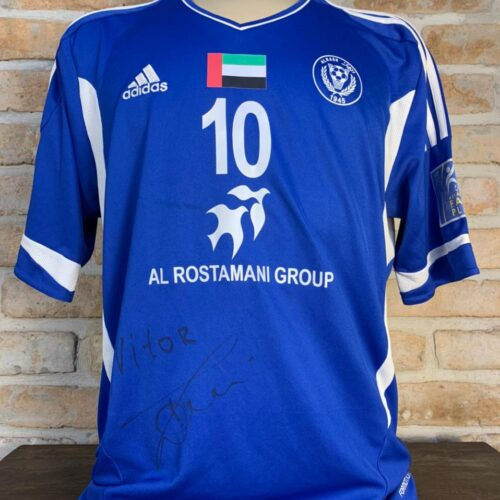 Camisa Al-Nasr EAU Adidas Vitor Toni Asia Champions League autografada