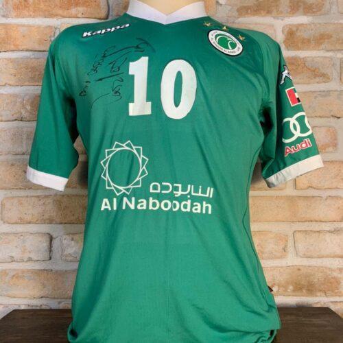 Camisa Al Shabab Arábia Saudita Kappa Carlos Villanueva autografada