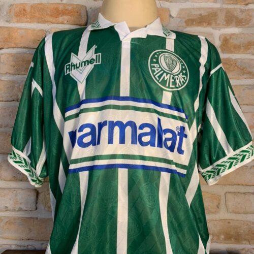 Camisa Palmeiras Rhumell 1994 Nilson autografada