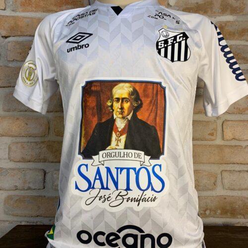 Camisa Santos Umbro 2020 Diego P Brasileirão José Bonifácio orgulho de Santos