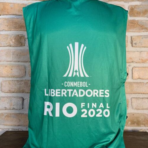 Colete verde Libertadores da América final 2020 Palmeiras x Santos