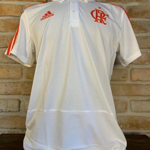 Camisa Flamengo Adidas 2018 polo branca