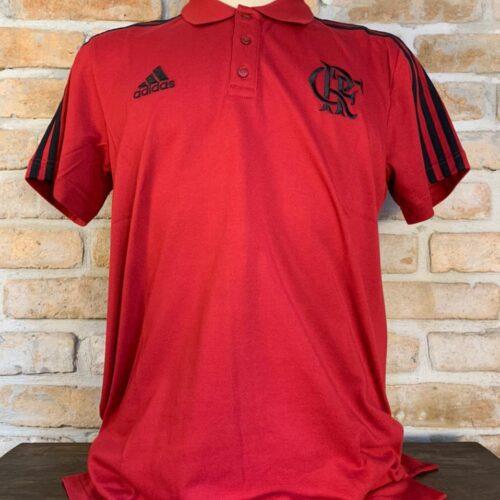 Camisa Flamengo Adidas 2018 polo vermelha