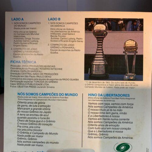 Disco Grêmio campeão mundial de 1983