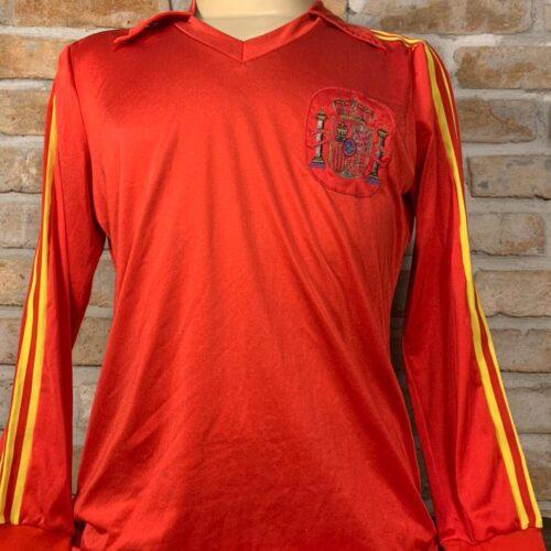 Camisa Espanha Adidas 1982 mangas longas