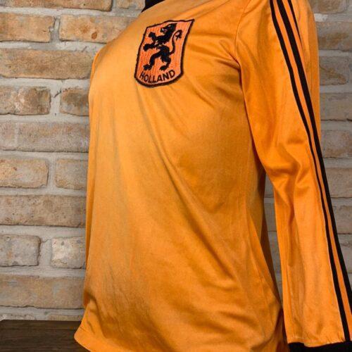 Camisa Holanda Adidas 1980 mangas longas
