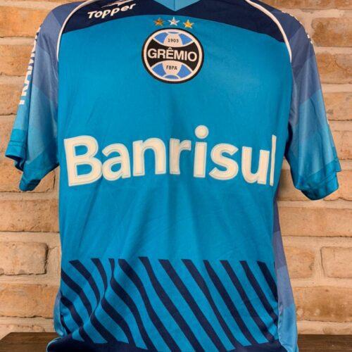 Camisa Grêmio Topper 2014 Marcelo Grohe autografada goleiro