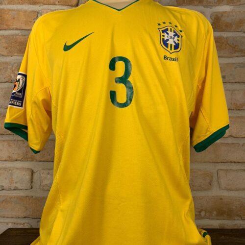 Camisa Brasil Nike 2008 Lúcio Eliminatórias Copa do Mundo