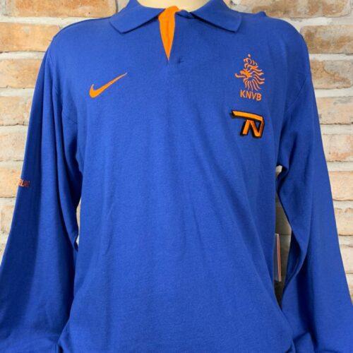 Camisa Holanda Nike 2008 polo mangas longas