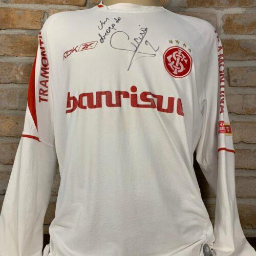 Camisa Internacional Reebok 2006 Ceará Libertadores da América autografada mangas longas