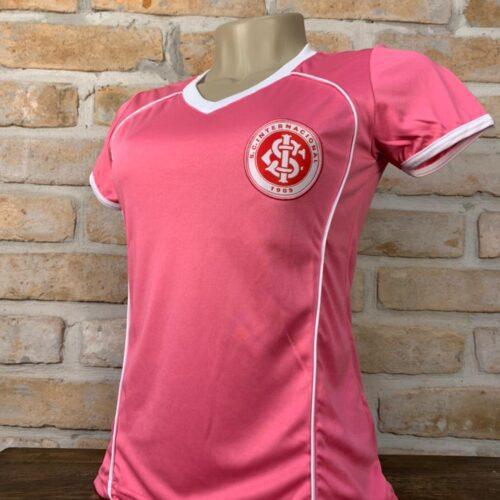 Camisa Internacional Baby Look Rosa Feminina Licenciada