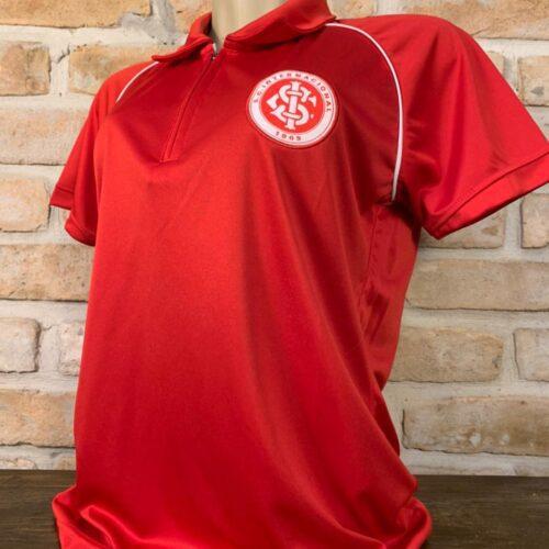 Camisa Internacional polo Vermelha Feminina Licenciada