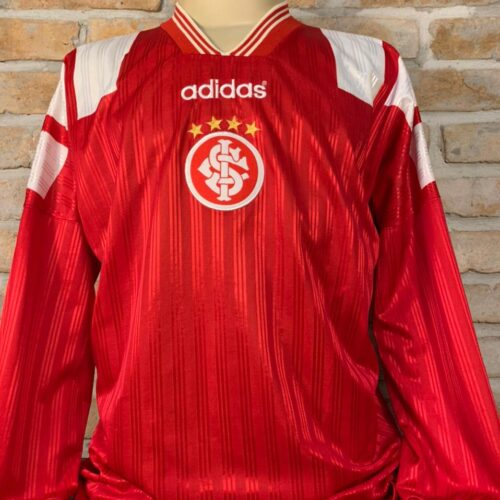 Camisa Internacional Adidas 1997 futsal mangas longas