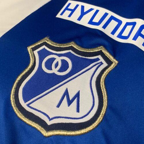 Camisa Millonarios Adidas 2013 Rentería autografada Libertadores da Ámerica