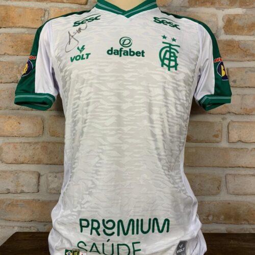 Camisa América Mineiro Volt 2021 autografada Brasileirão 2021