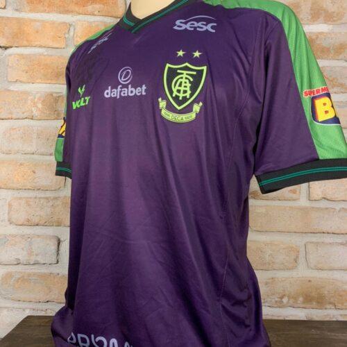 Camisa América Mineiro Volt goleiro autografada  Brasileirão 2021